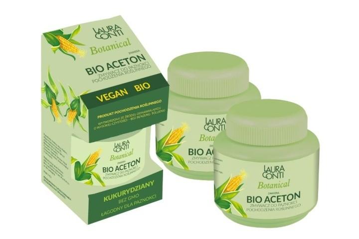 Bio aceton Zmywacz do paznokci pochodzenia organicznego LAURA CONTI Botanical Bio Aceton