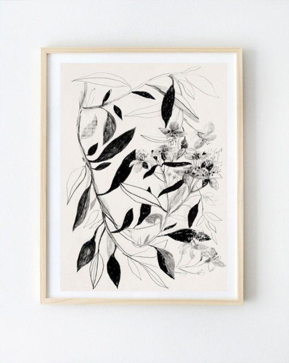 PakameraPL AnitaTomala grafika botaniczna 49pln 596x750 Pomys y na dekoracje wielkanocne