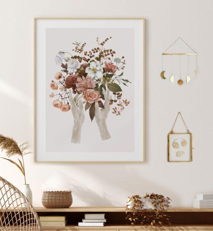PakameraPL AnitaTomala plakat bukiet 98pln 692x750 Pomys y na dekoracje wielkanocne