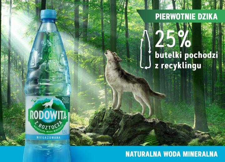 Rodowita z Roztocza butelka 25 proc recykling 1500ml Zmieniamy si dla natury Wiosenne nowo ci w ofercie Rodowitej z Roztocza